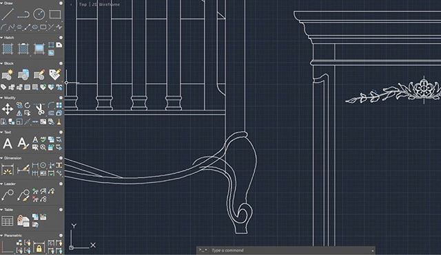 Cabriole leggin' French provincial cribs for RH Baby & Child. #restorationhardware  Btw I don't recommend AutoCad for Mac. What happened to good ole classic mode?! 😭