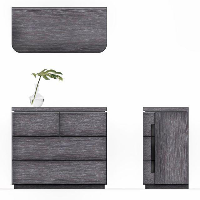 Cerused oak and metal reveal dresser for Restoration Hardware Teen's industrial product line.