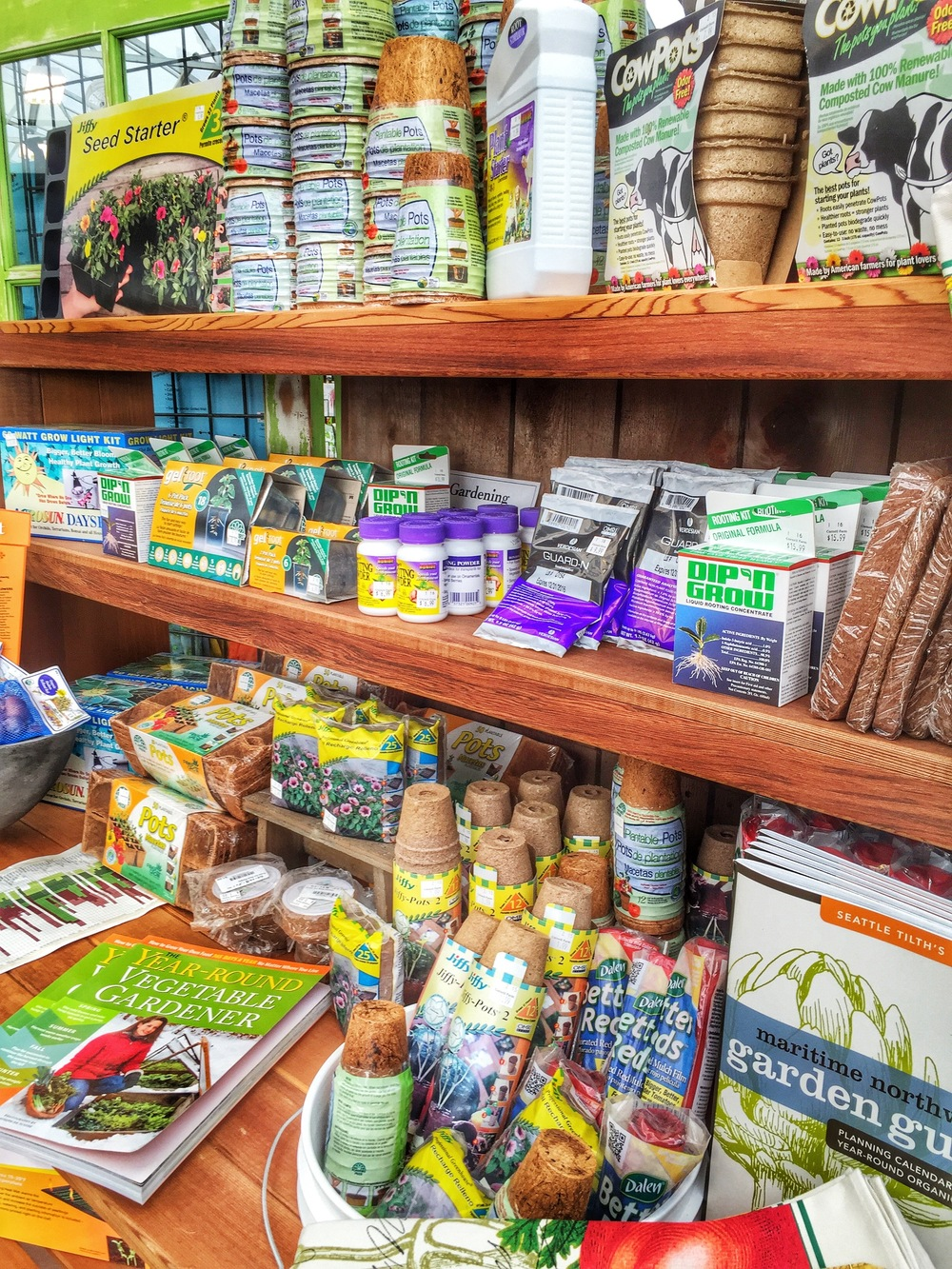 Seed Starting Supplies at Cornell Farm