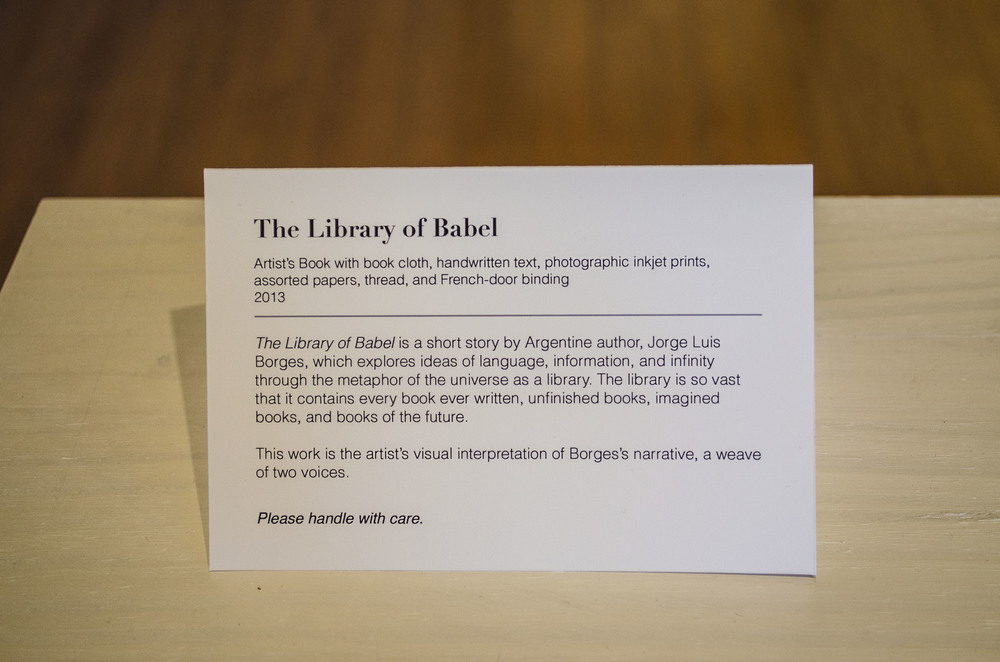 View  The Library of Babel   here .