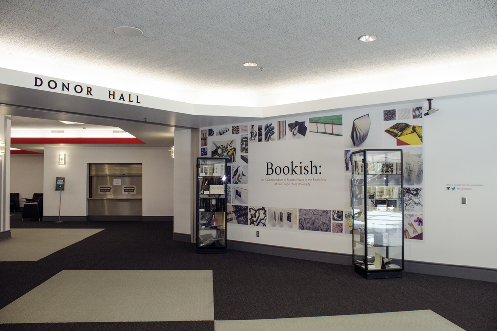 Bookish exhibit, installation view, 2016