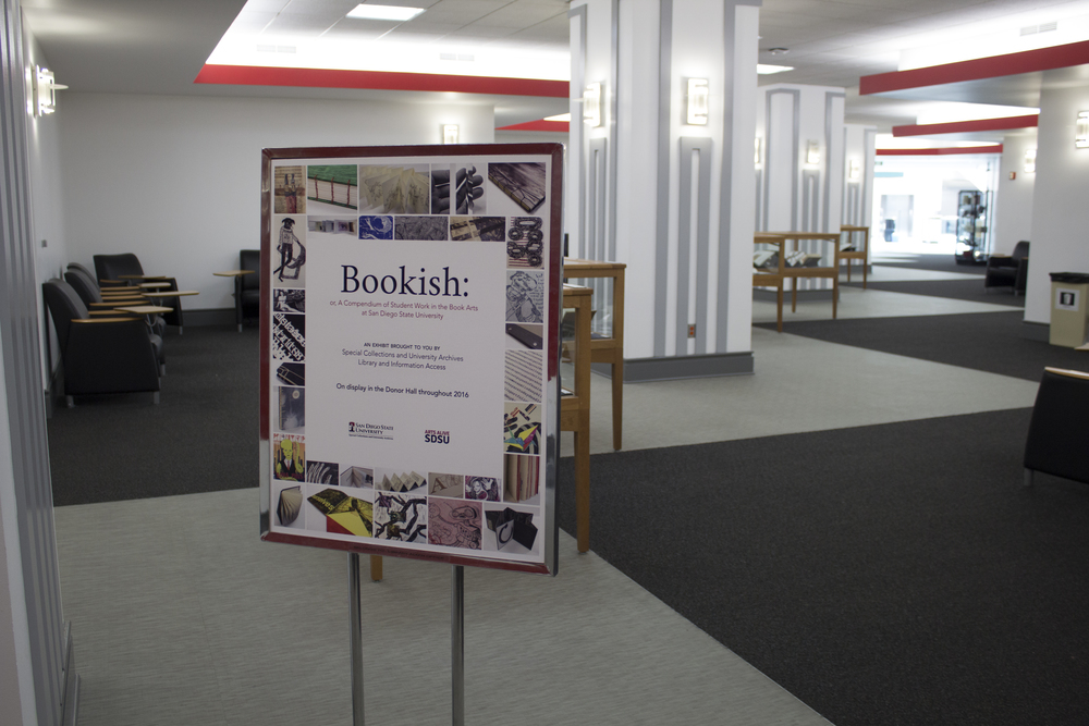 Bookish exhibit, 2016