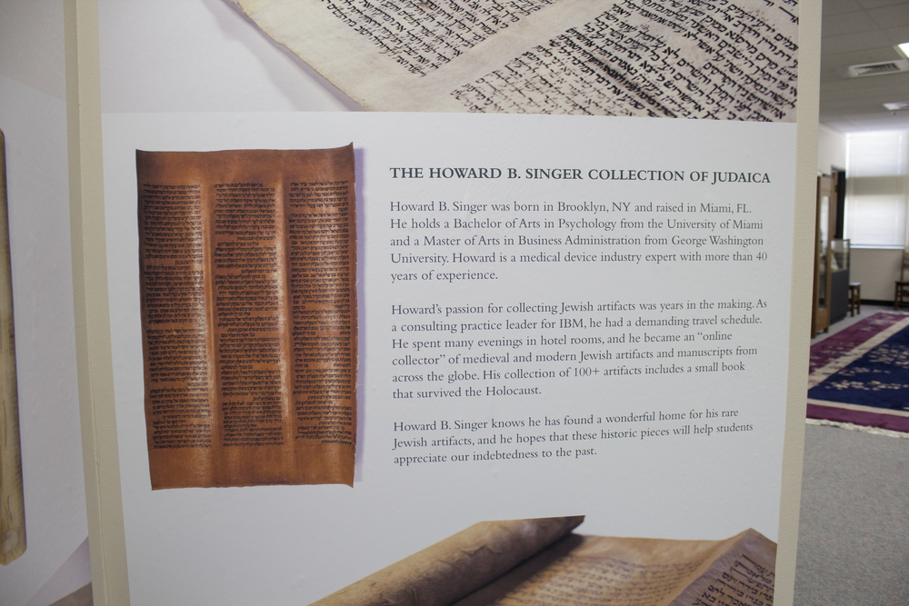 Torah Scrolls exhibit