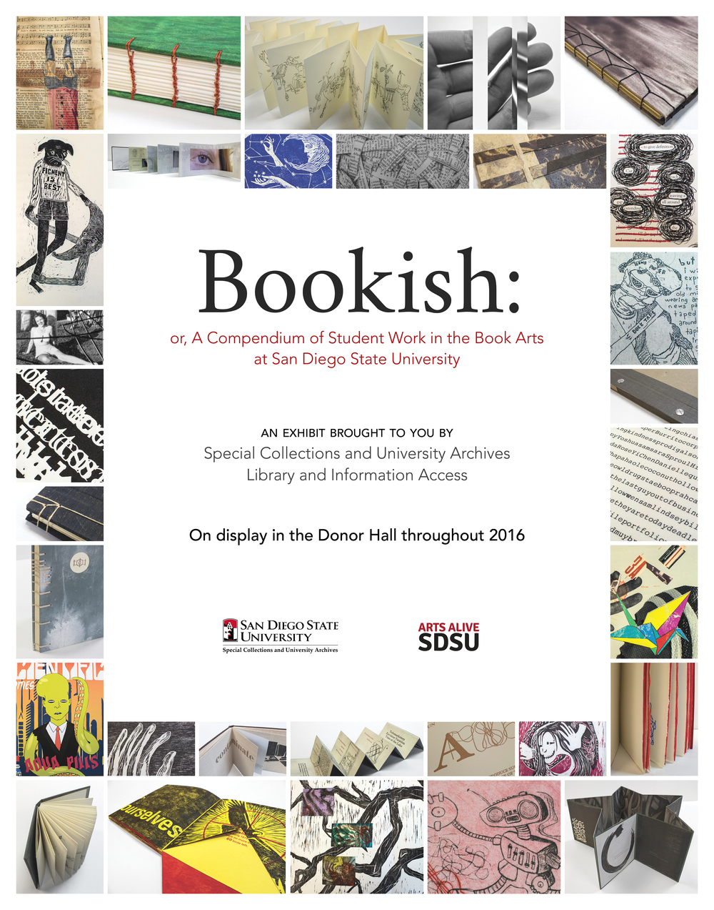 Bookish exhibit poster, 2016