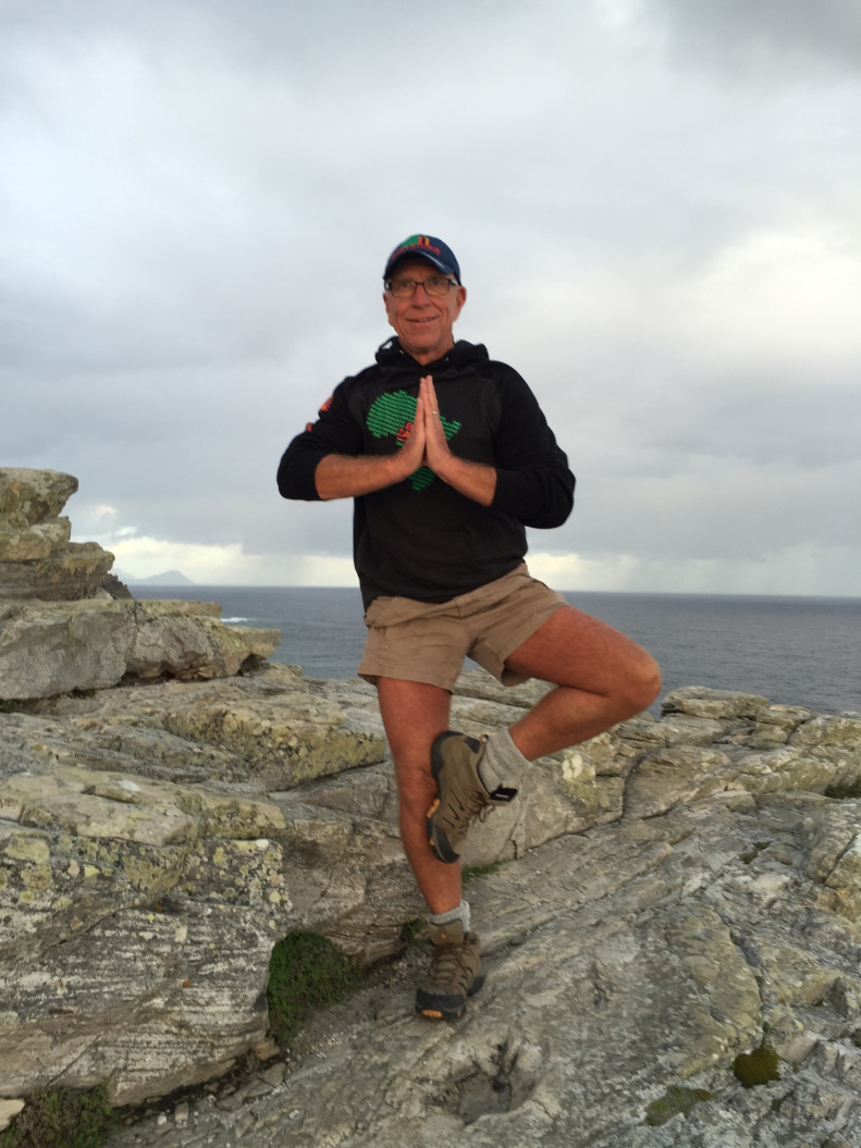 Practicing yoga routinely on the trip helped undo the strain of hours of air travel.