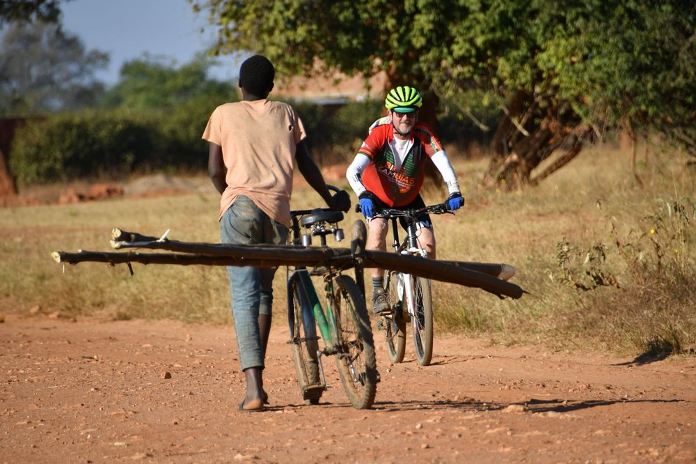 A 325 mile bike tour through Zambia, that raises funds and awareness for HIV/AIDS prevention and economic empowerment of women in Africa.  Pete Lester on his seventh Bike Zambia ride.