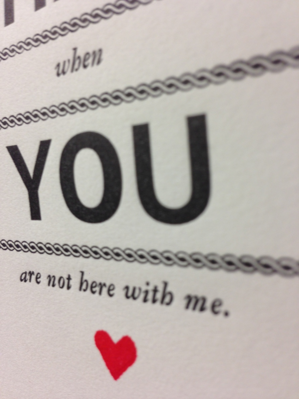 I Hate You | Letterpress Valentine