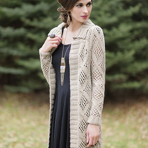 Designed for Worsted Cotton, this  Afternoon Cardi  is lovely!