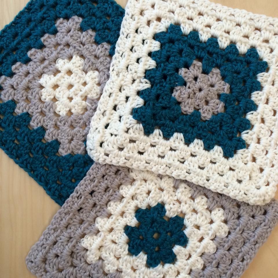 Crochet Granny Square Blanket Or Pillow Cover Or Bag Circle Of