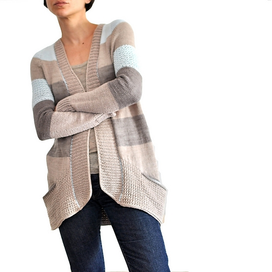 BlueSand Cardigan  in  Skinny Cotton