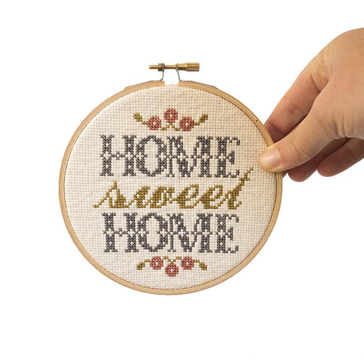 Learn cross stitch with this adorable Home Sweet Home kit!
