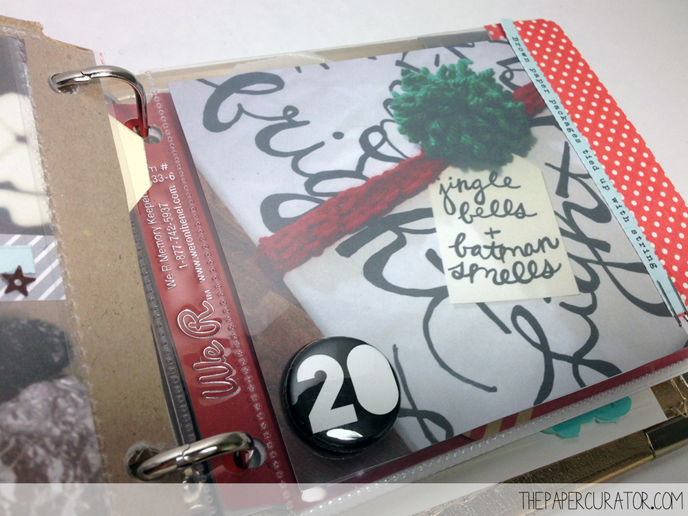 DECEMBER 20TH | 25 DAYS OF CHRISTMAS MINI ALBUM/ DECEMBER DAILY WEEK NO. 3 | THE PAPER CURATOR