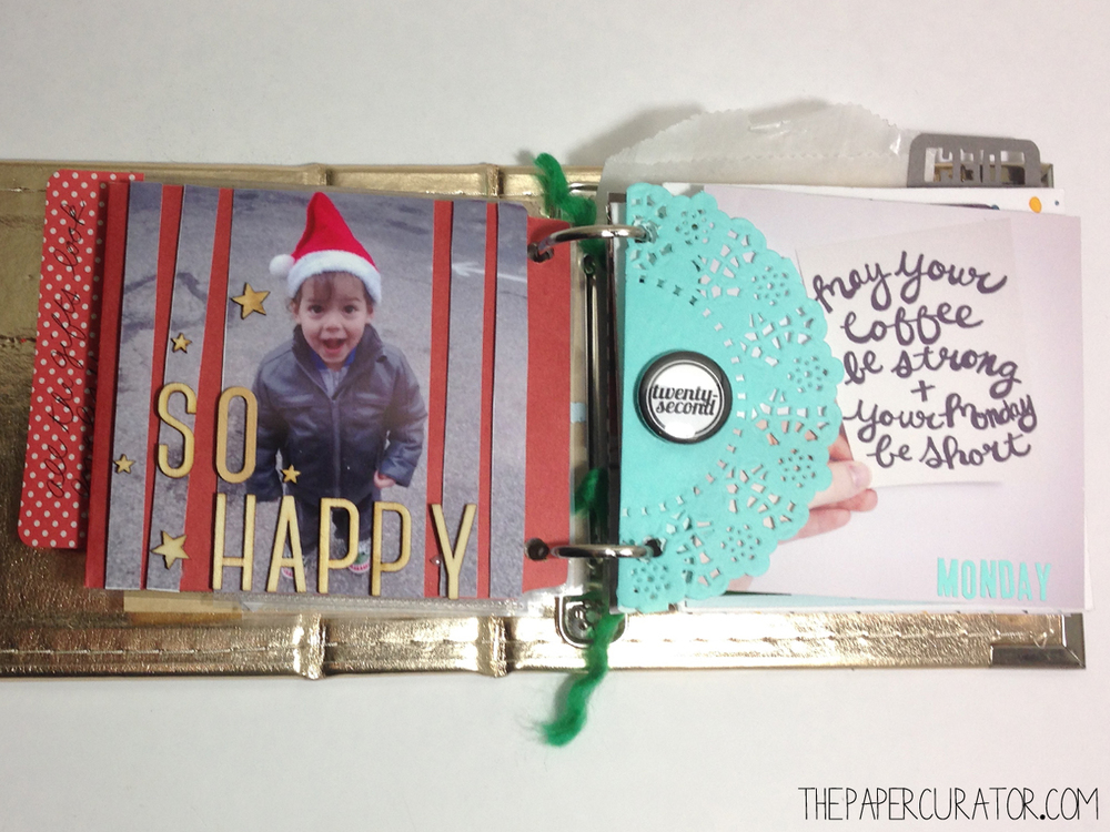 DECEMBER 22ND   |   25 DAYS OF CHRISTMAS MINI ALBUM/ DECEMBER DAILY WEEK NO. 4 | THE PAPER CURATOR