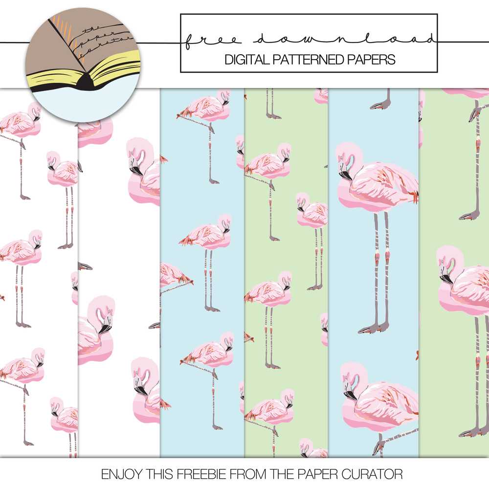 'FLORIDA' LAYOUT + FREE FLAMINGO PATTERN PAPER DOWNLOAD | THE PAPER CURATOR