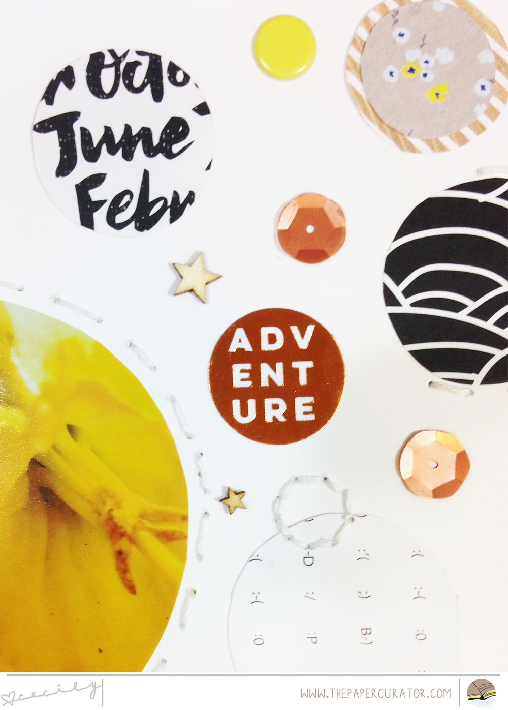 "THIS WEEK'S SKETCH WITH ""ADVENTURE"" SCRAPBOOK LAYOUT 