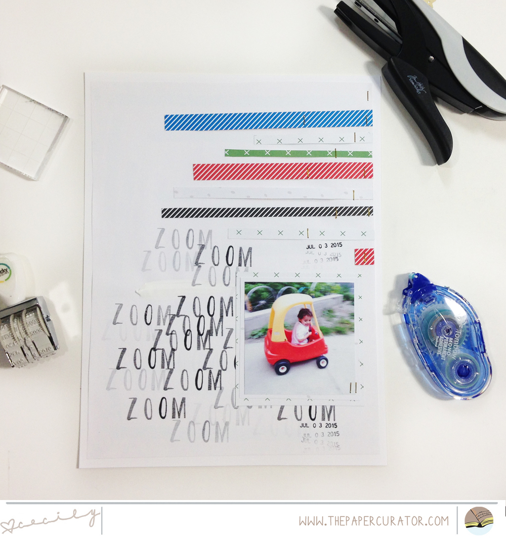SAVING TIME WITH CUSTOM STAMPED BACKGROUNDS | THE PAPER CURATOR