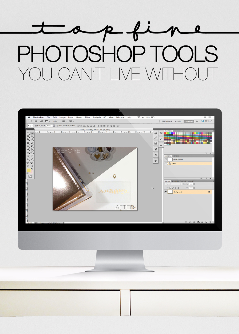 TOP 5 PHOTOSHOP TOOLS YOU CAN'T LIVE WITHOUT | THE PAPER CURATOR