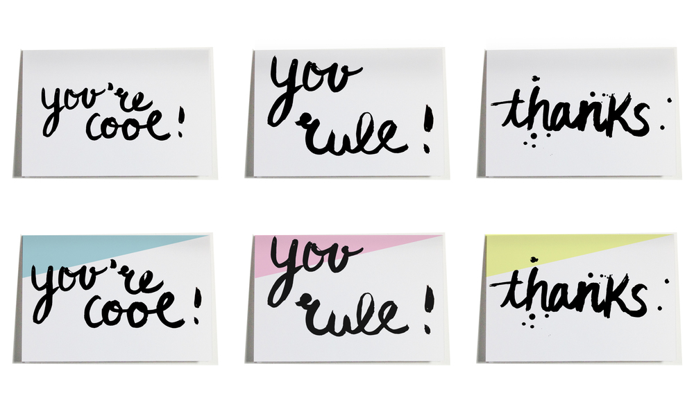 FREEBIE BRUSH SCRIPT GREETING CARDS | THE PAPER CURATOR