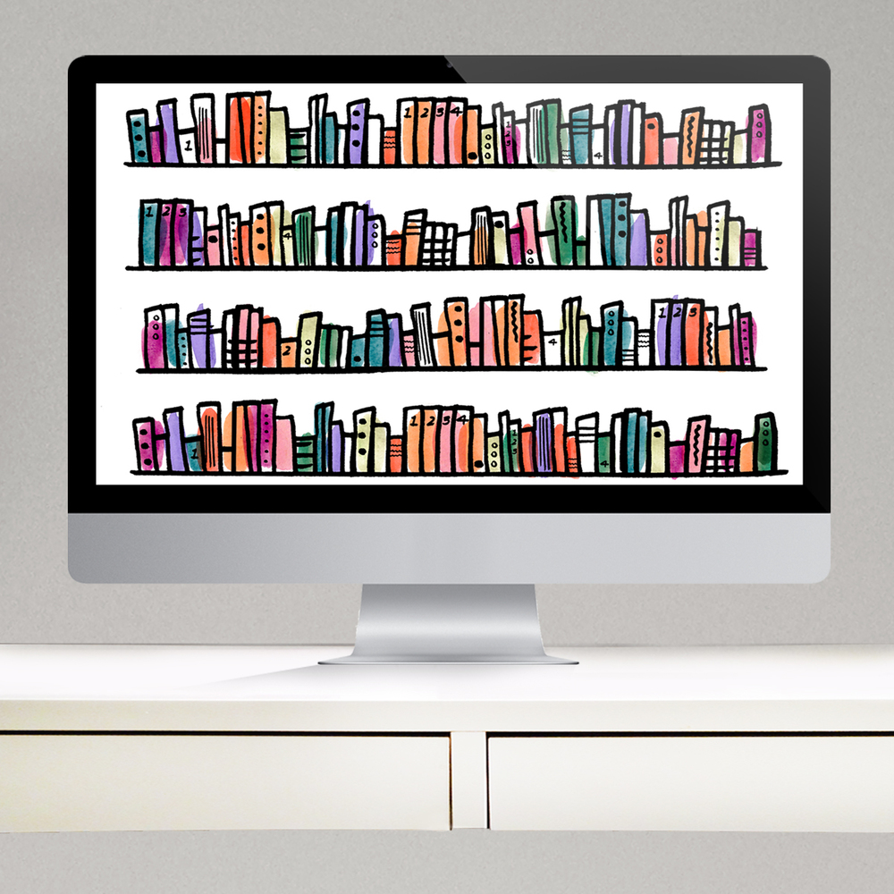 FREE BOOKWORM TECHNOLOGY BACKGROUNDS FOR COMPUTERS, TABLETS, AND IPHONES | THE PAPER CURATOR