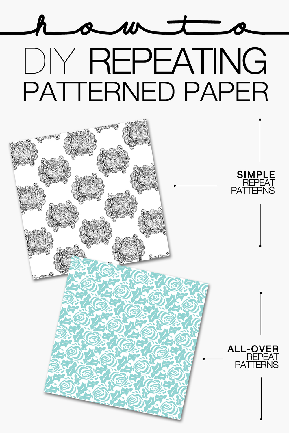 HOW TO | CREATE YOUR OWN REPEATING PATTERNED PAPER | THE PAPER CURATOR