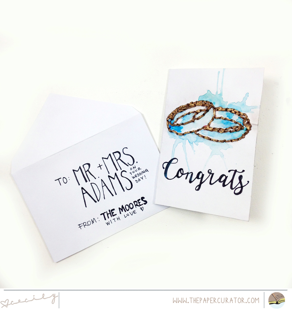 FAST + FABULOUS 'CONGRATS' WEDDING CARD | THE PAPER CURATOR