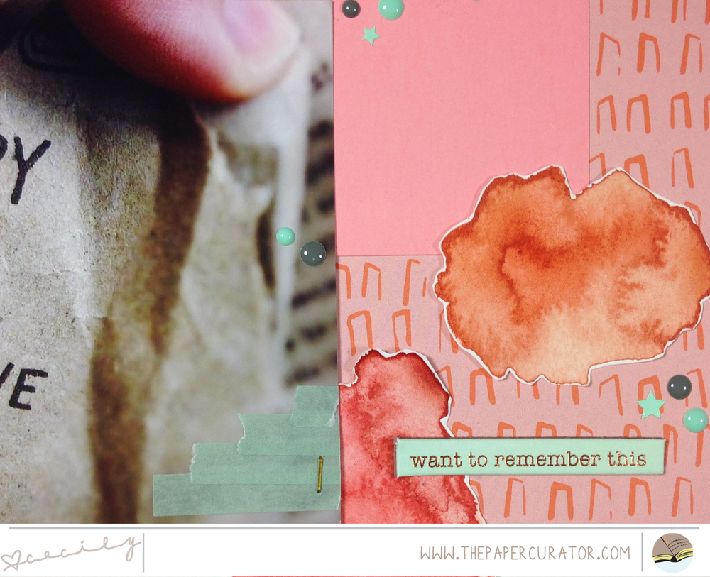 USING A KIT'S COLOR PALETTE TO CREATE A QUICK LAYOUT | THE PAPER CURATOR