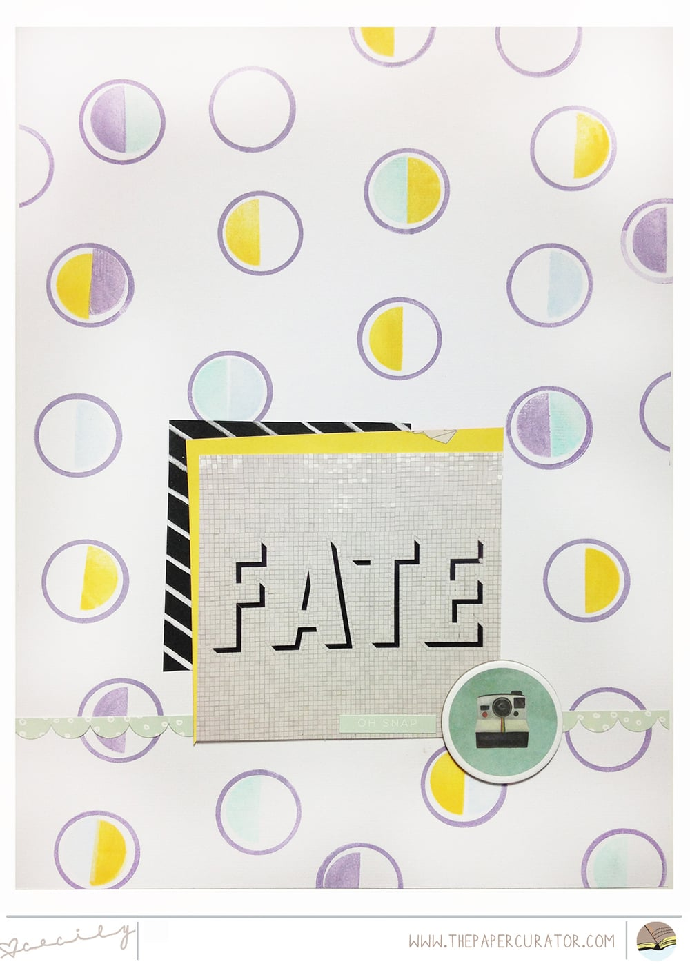 SUNDAY SKETCH NO. 43 WITH 'FATE' SCRAPBOOK LAYOUT | THE PAPER CURATOR