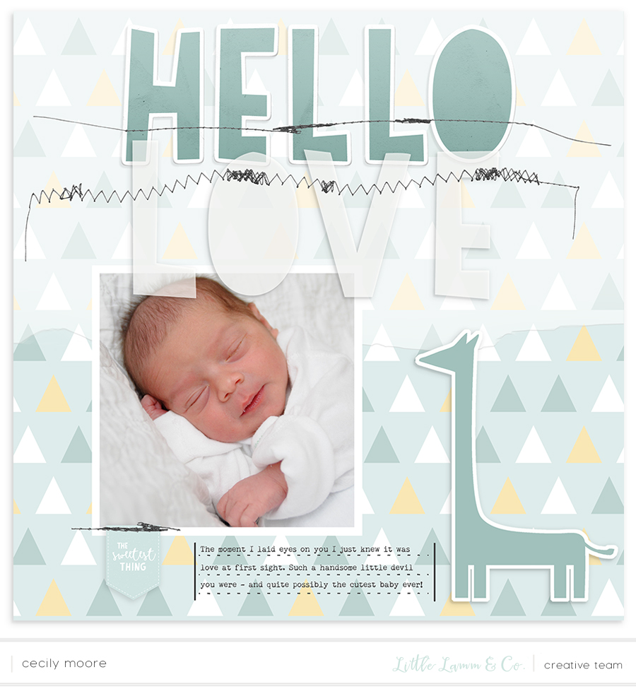 DIGITAL LAYOUT USING 'HUSH' BY LL&CO | THE PAPER CURATOR