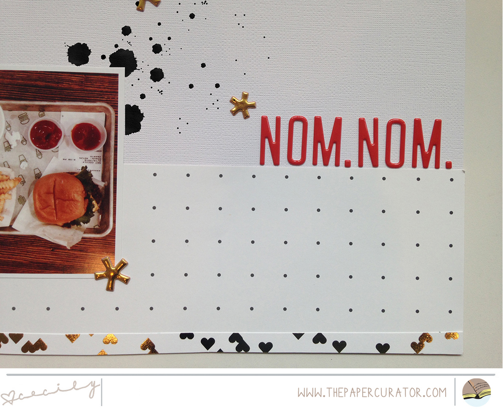 'NOM. NOM.' SCRAPBOOK LAYOUT | THE PAPER CURATOR