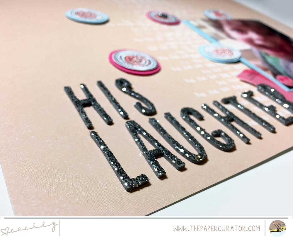 'HIS LAUGHTER' SCRAPBOOK LAYOUT | THE PAPER CURATOR