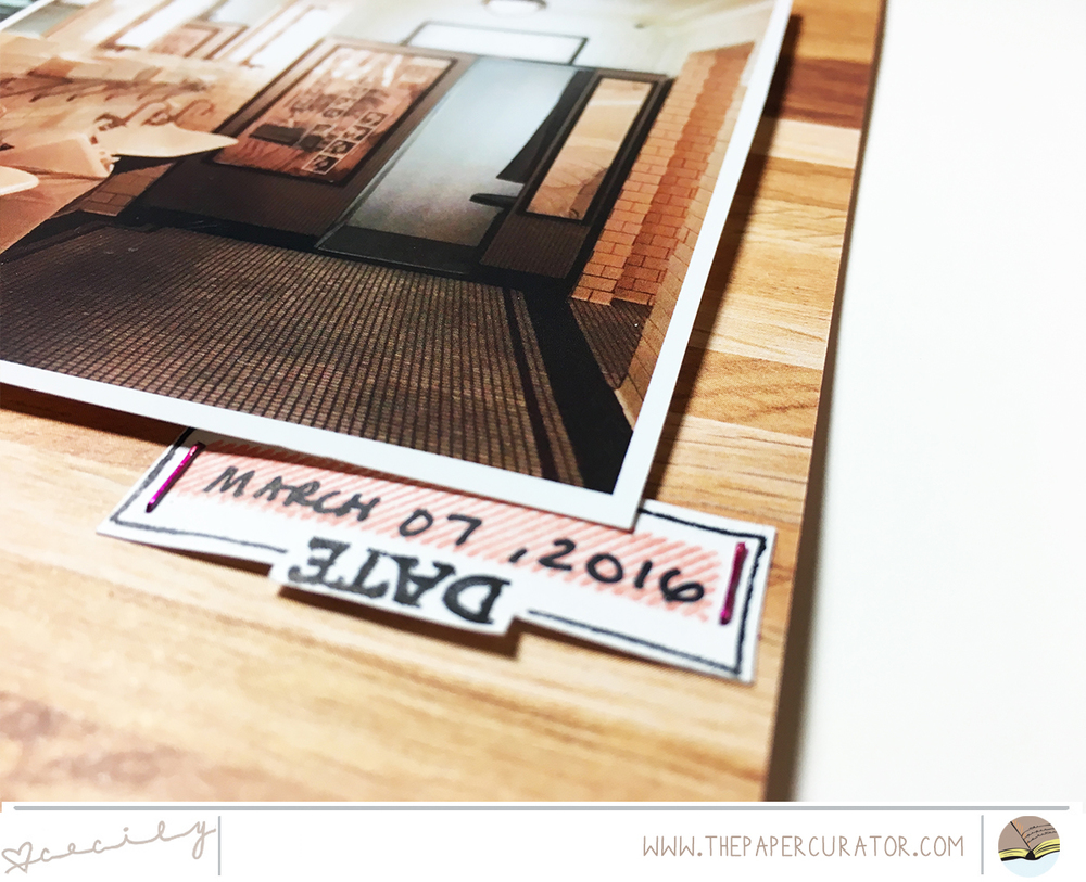 SUNDAY SKETCH SERIES NO. 52 WITH 'EAT' SCRAPBOOK LAYOUT | THE PAPER CURATOR