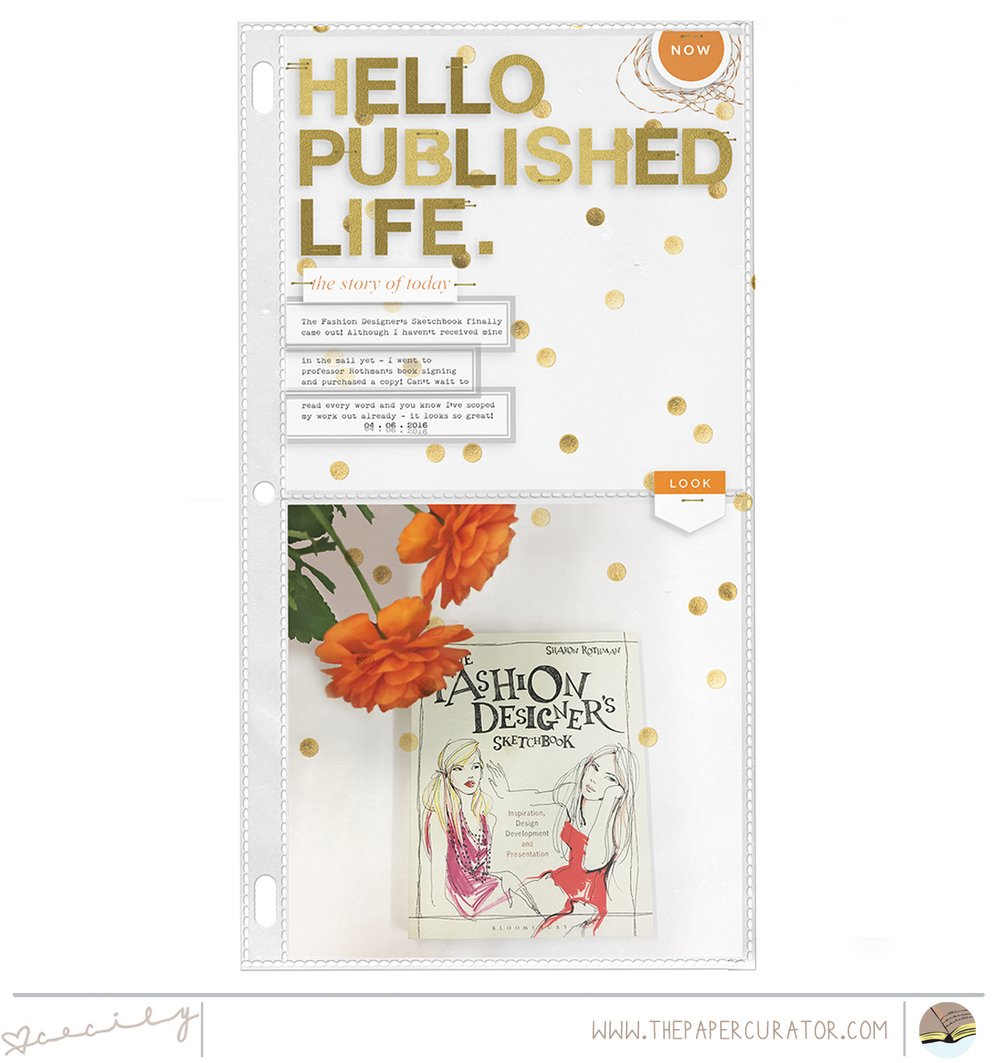"Sunday Sketch Series No. 54 with ""Published Life"" Scrapbook Layout 