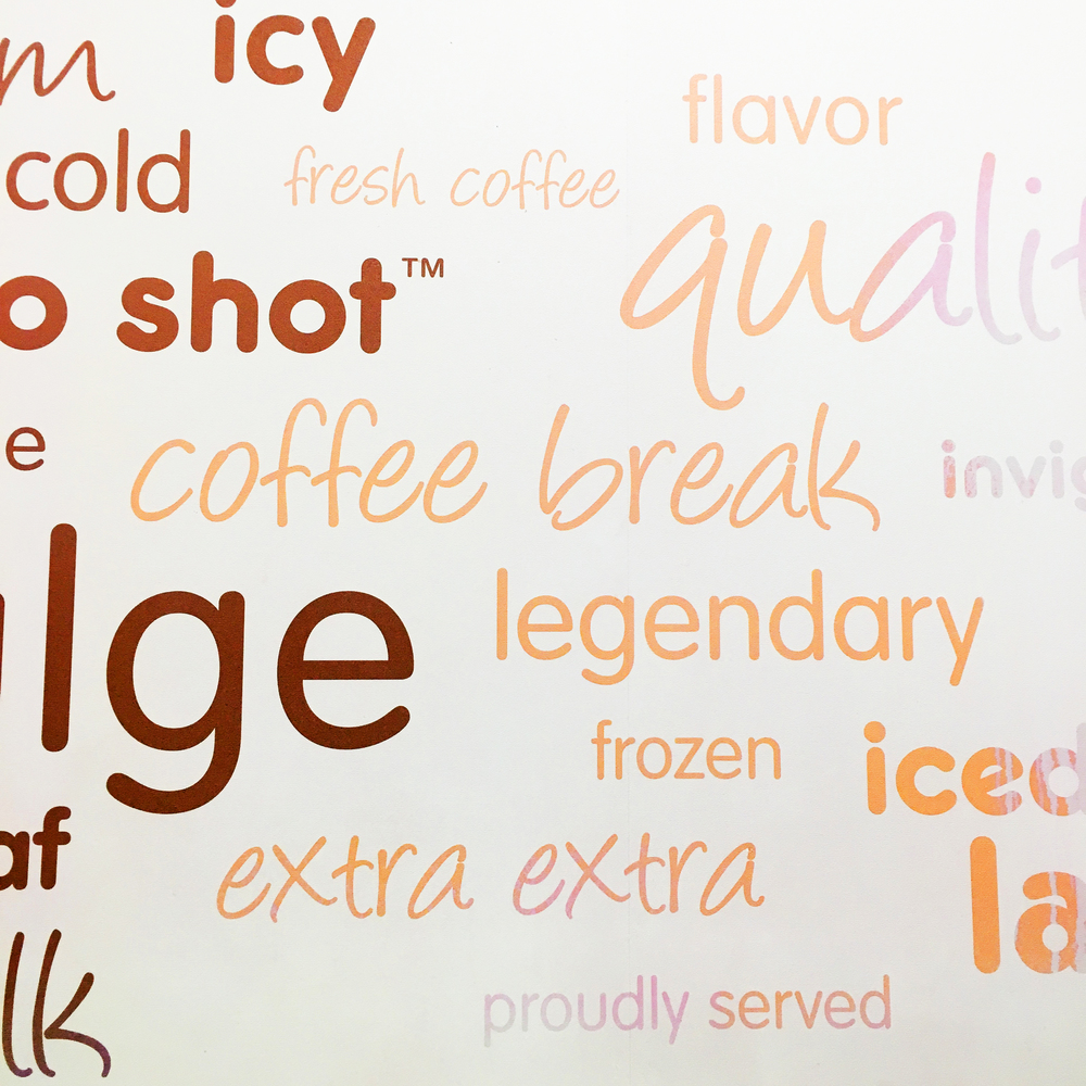 Stopped for the daily coffee at the local Dunkin' who also happens to have cool coffee wallpaper