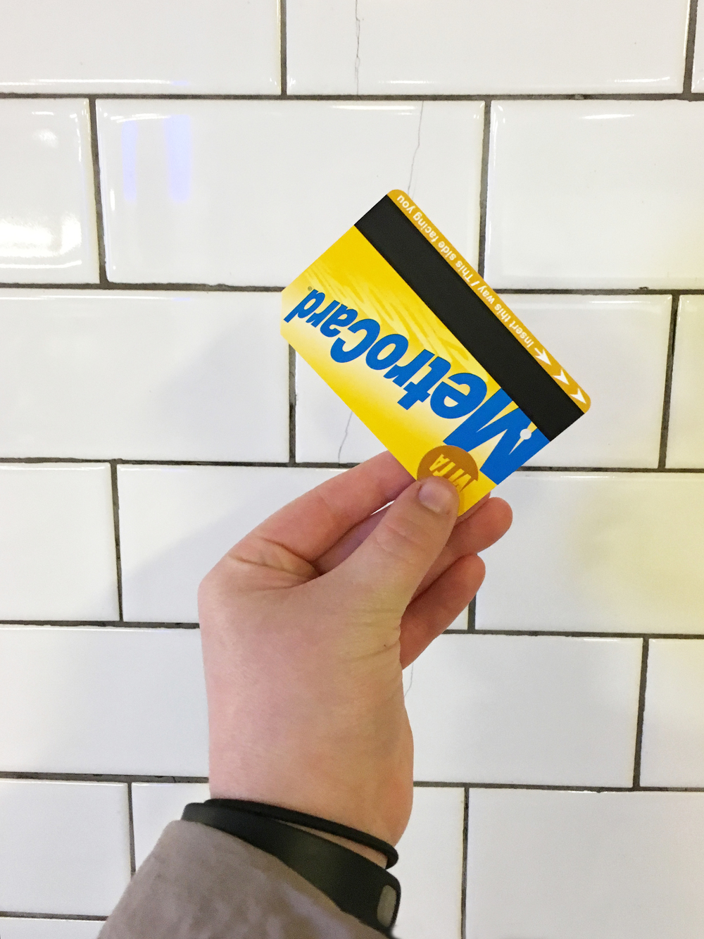 Once again, whip out the trusty metro card. Admit one to traindom, check.