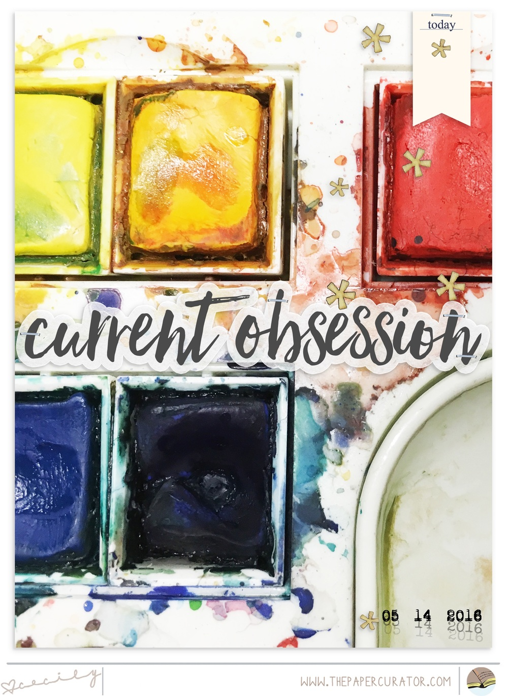 'Current Obsession'  Scrapbook Layout | The Paper Curator