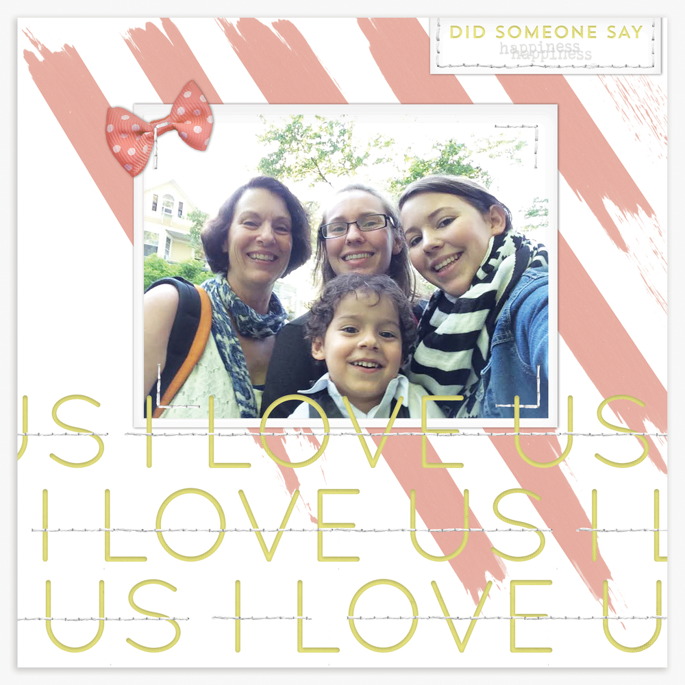 'I Love Us' Scrapbook Layout | The Paper Curator