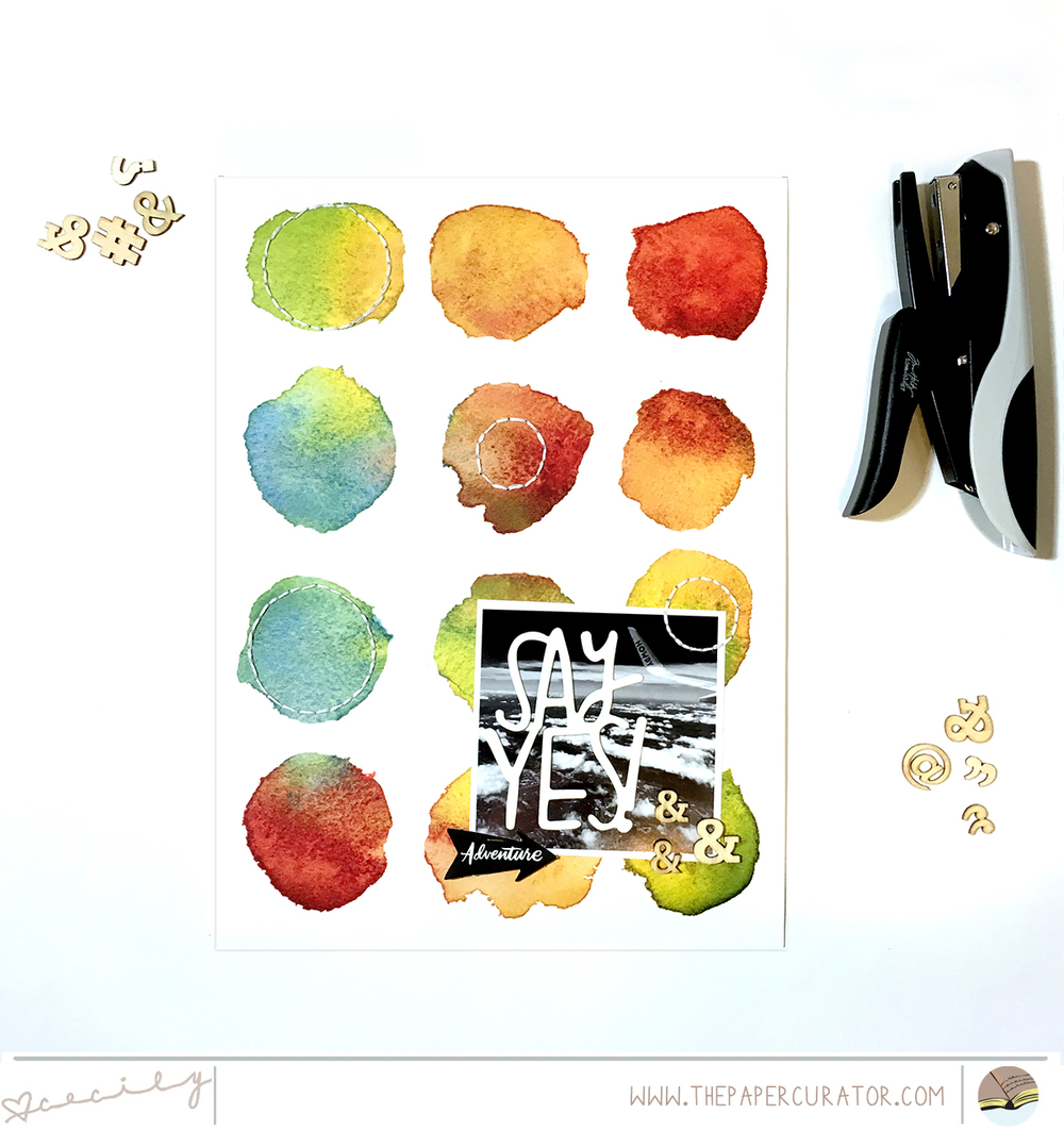July Kit Sneaks with a Scrapbook Layout | The Paper Curator