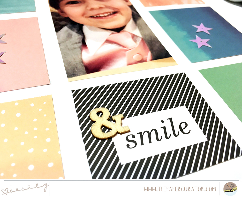 'Smile' Scrapbook Layout using ABM Messy Boxes | The Paper Curator