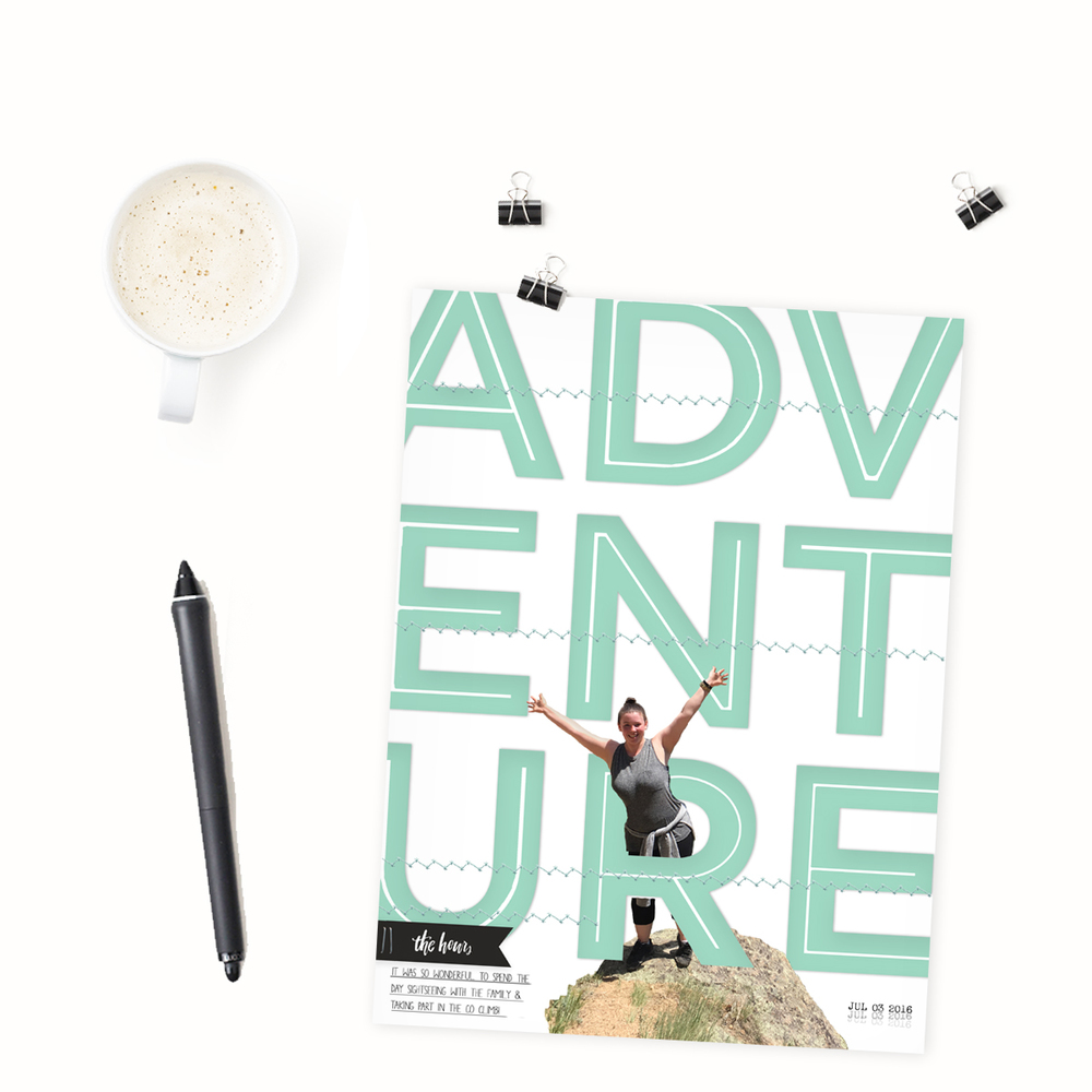 'Adventure' Scrapbook Layout | The Paper Curator