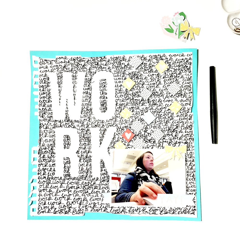 'Work' Scrapbook Layout | The Paper Curator