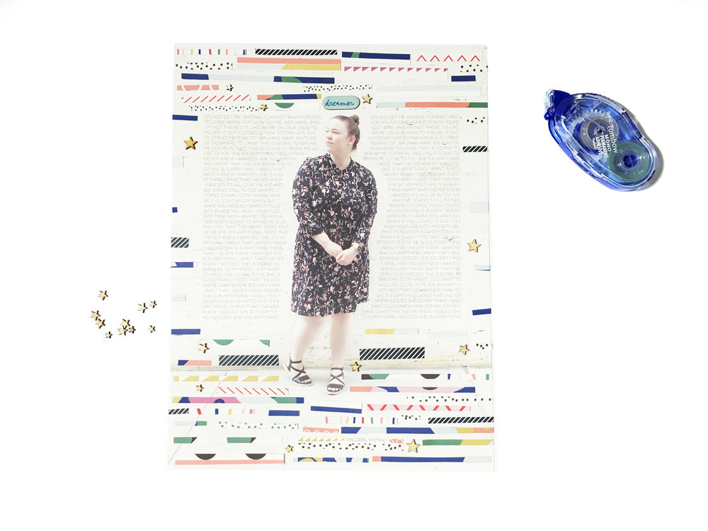 'Dreamer' Scrapbook Layout | The Paper Curator