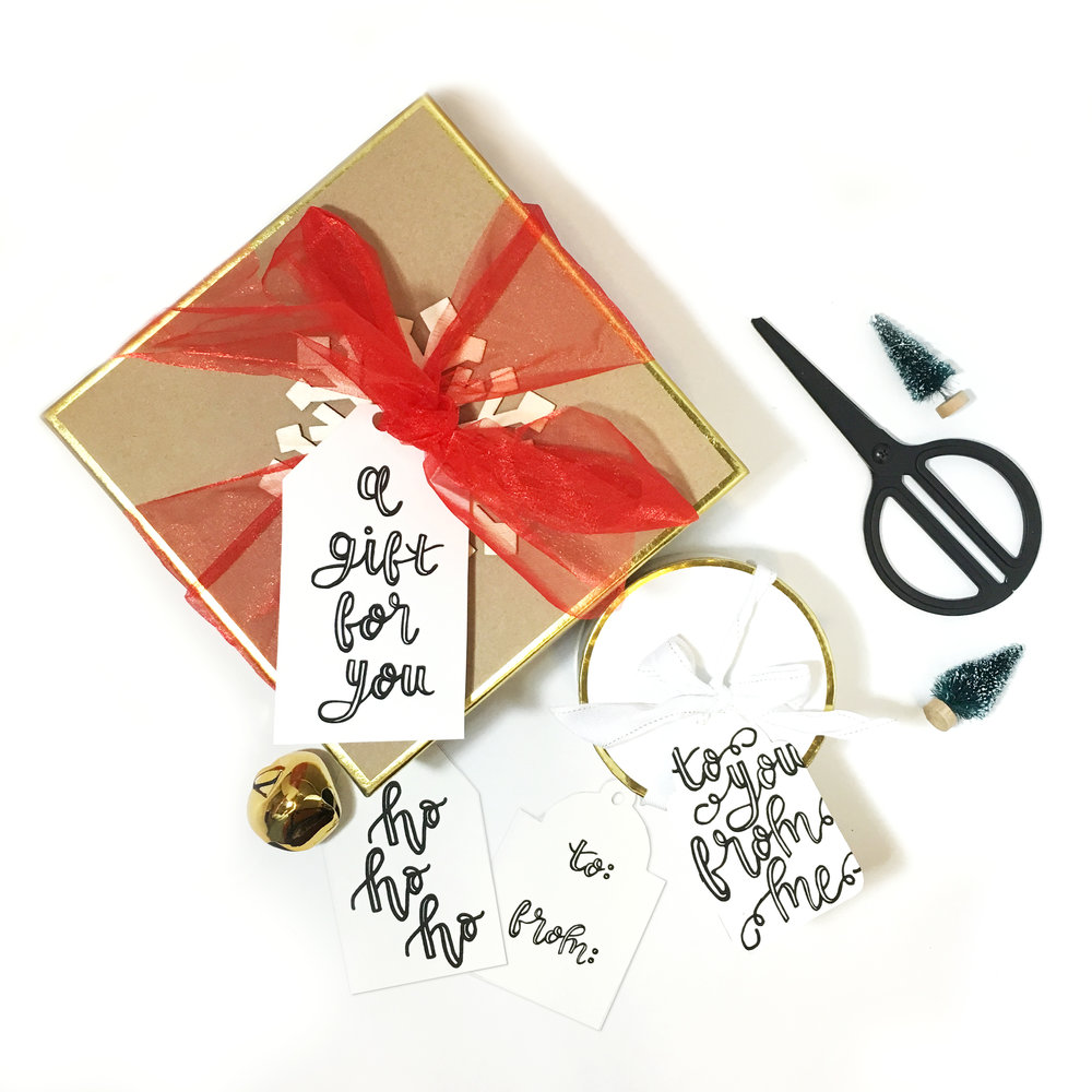 Freebie Hand Lettered Gift Tags | The Paper Curator
