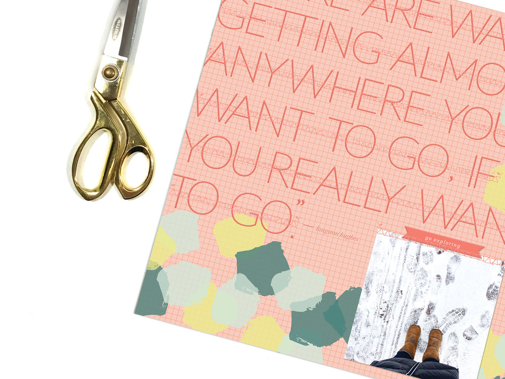 'Go' Scrapbook Layout | The Paper Curator