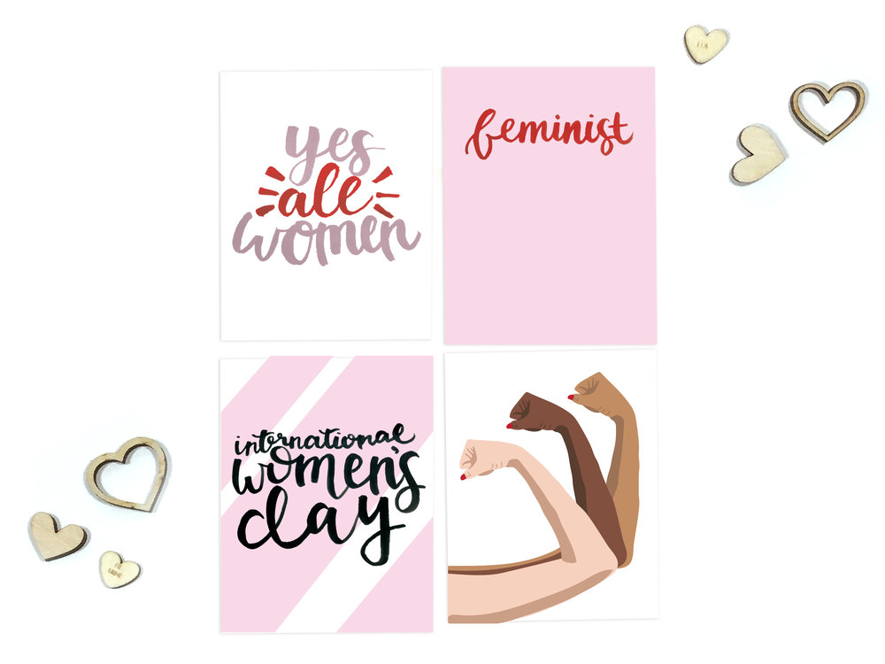 Freebie Women's Day Printable Cards | The Paper Curator