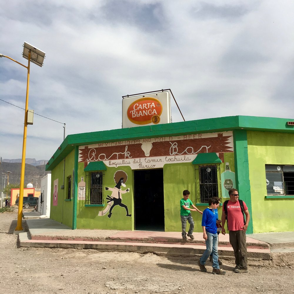 The town bar.