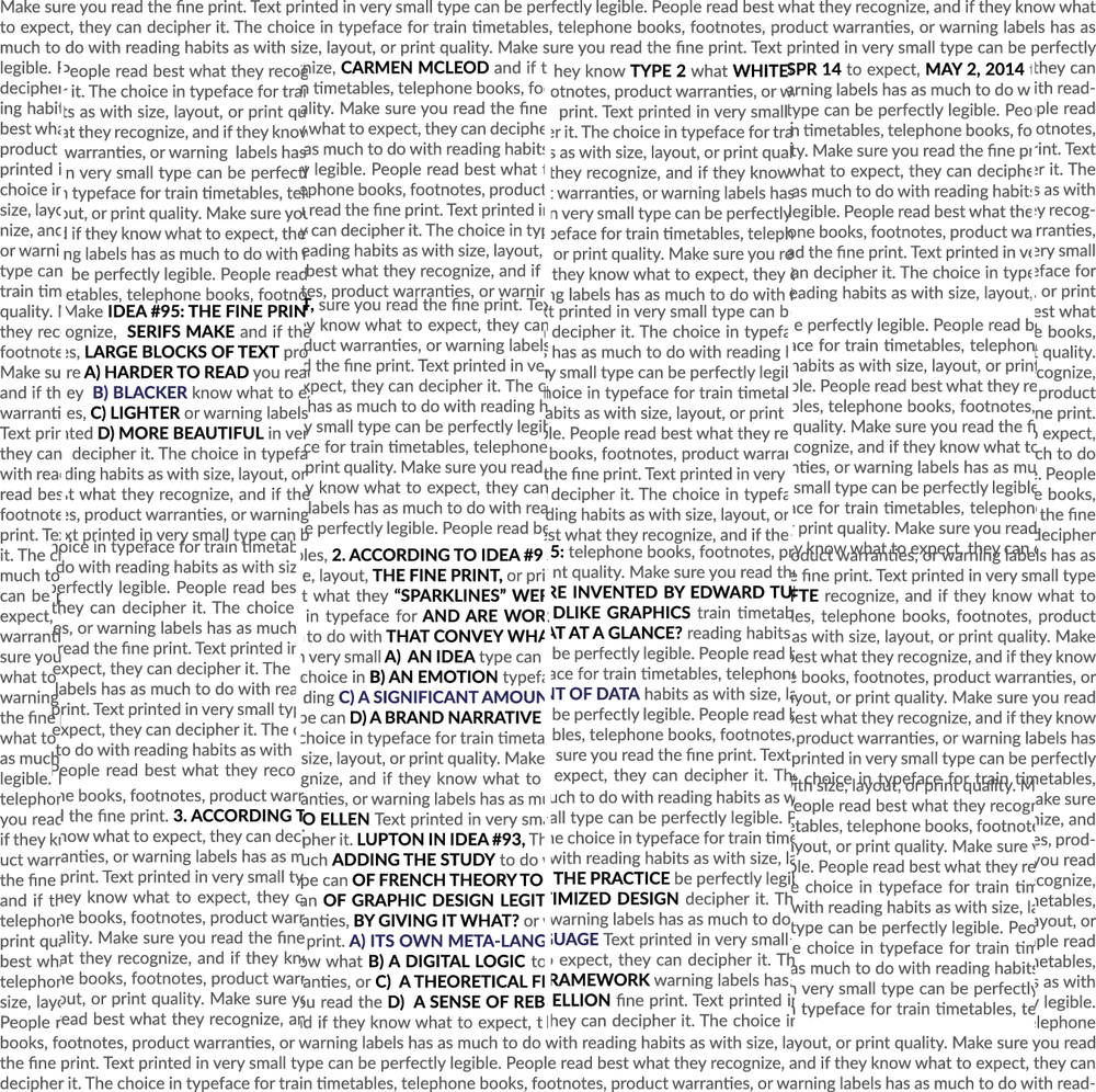 Typographic Experiments