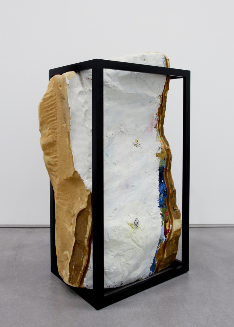 Petition, 2010 Foam, gesso, oil paint, Kilz and wood 45 x 30 x 20 inches