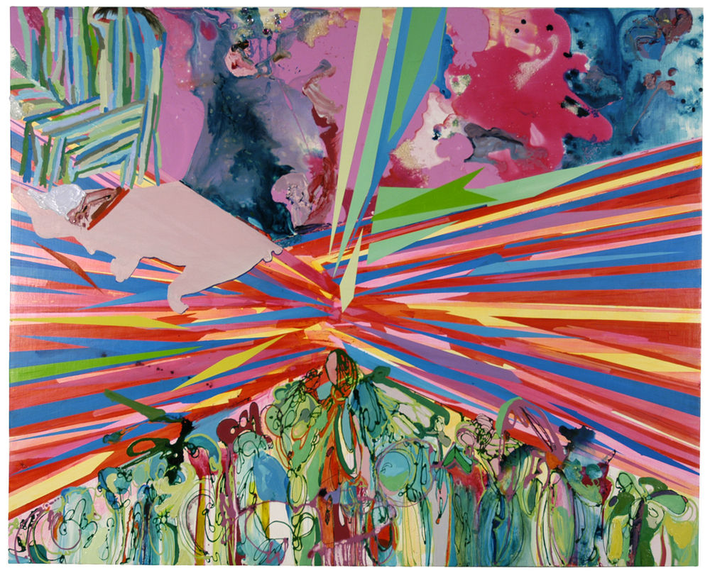 Sedona, 2006 Oil, acrylic and enamel on wood panel 48 x 58 inches