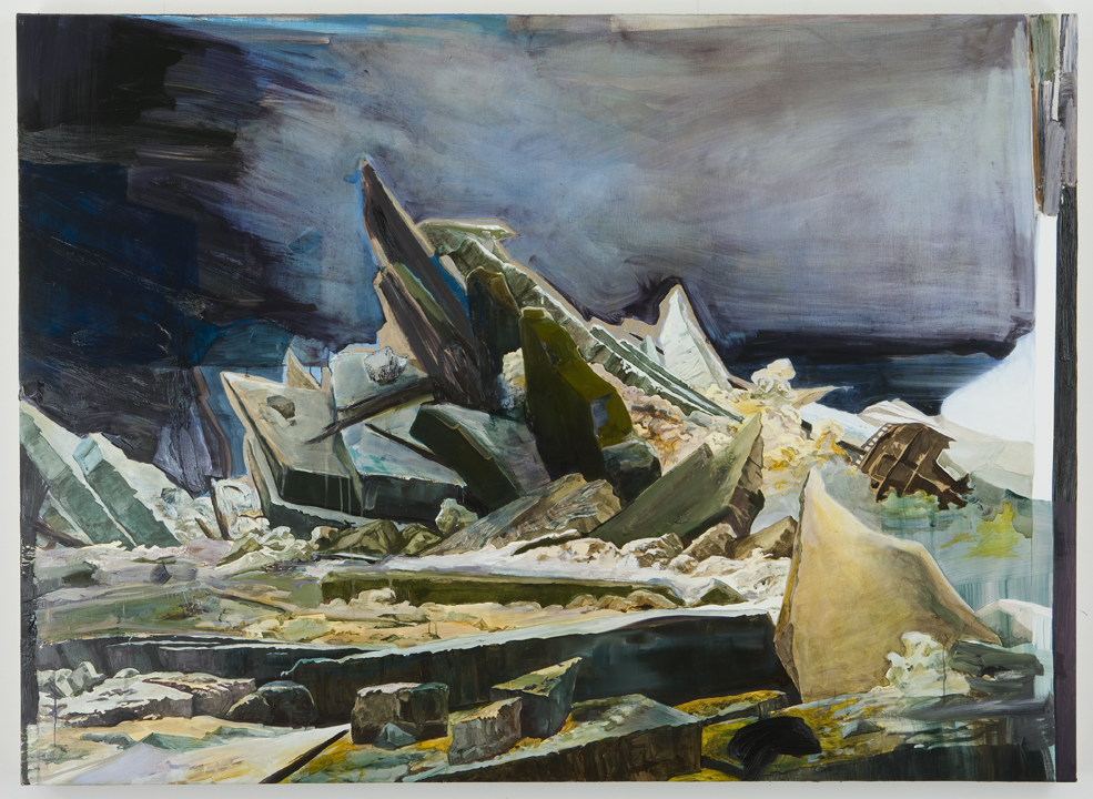 Shipwreck (After Caspar David Friedrich), 2009 Oil on canvas 45 x 63 inches