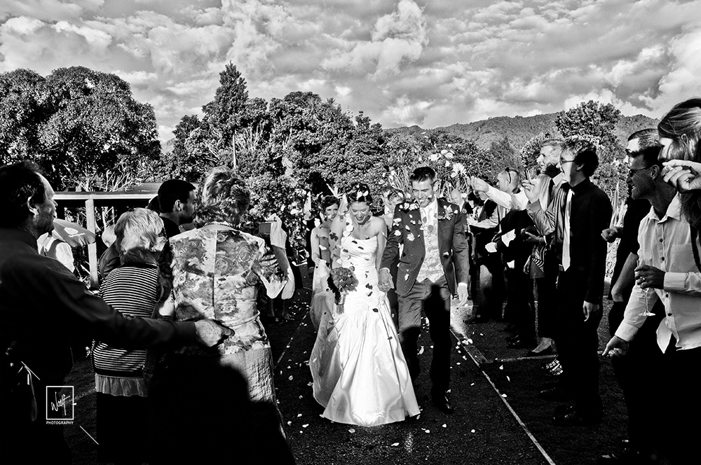 Wedding exit photos
